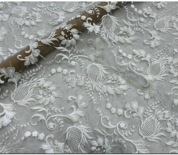 3d vestido de novia tull bordado encaje telas en tela de hogar y