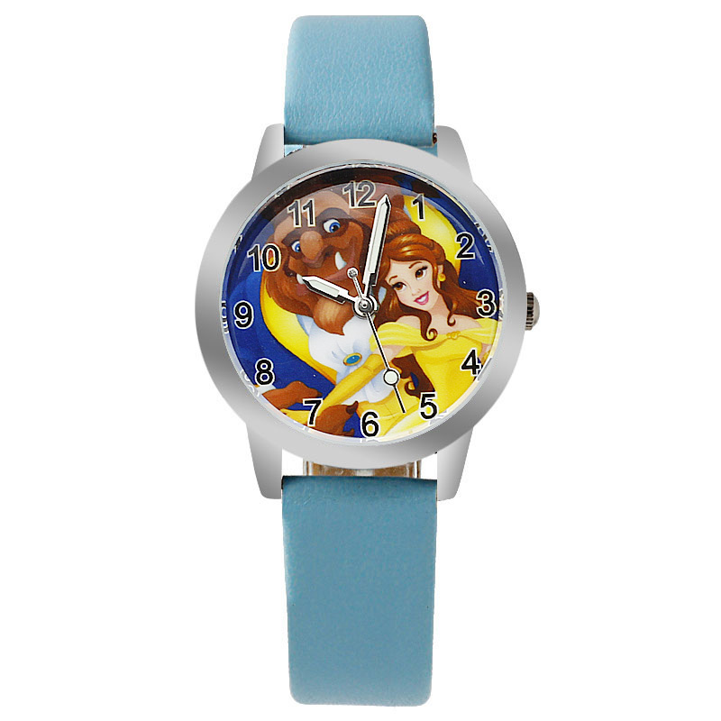 New Children's Watch Cute Cartoon Princess Girl Quartz Clock Boy Leather Sports Watch Bracelet Wrist Watch Reloj  Baby Watch