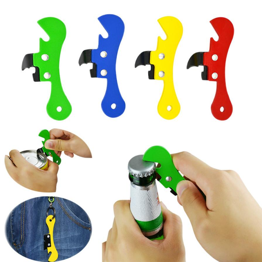Paint Iron 2 In 1 Mini Multifunctional Can Bottle Opener Portable Camping Beer Bottle Opener Jar Opener Camping Kitchen Tool