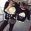 Autumn winter mother and daughter clothes cloud sweaters family matching clothes family clothing mom and son matching clothes