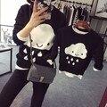 Suéteres de otoño invierno ropa de la madre y la hija nube familia ropa a juego ropa de la familia de madre e hijo ropa a juego