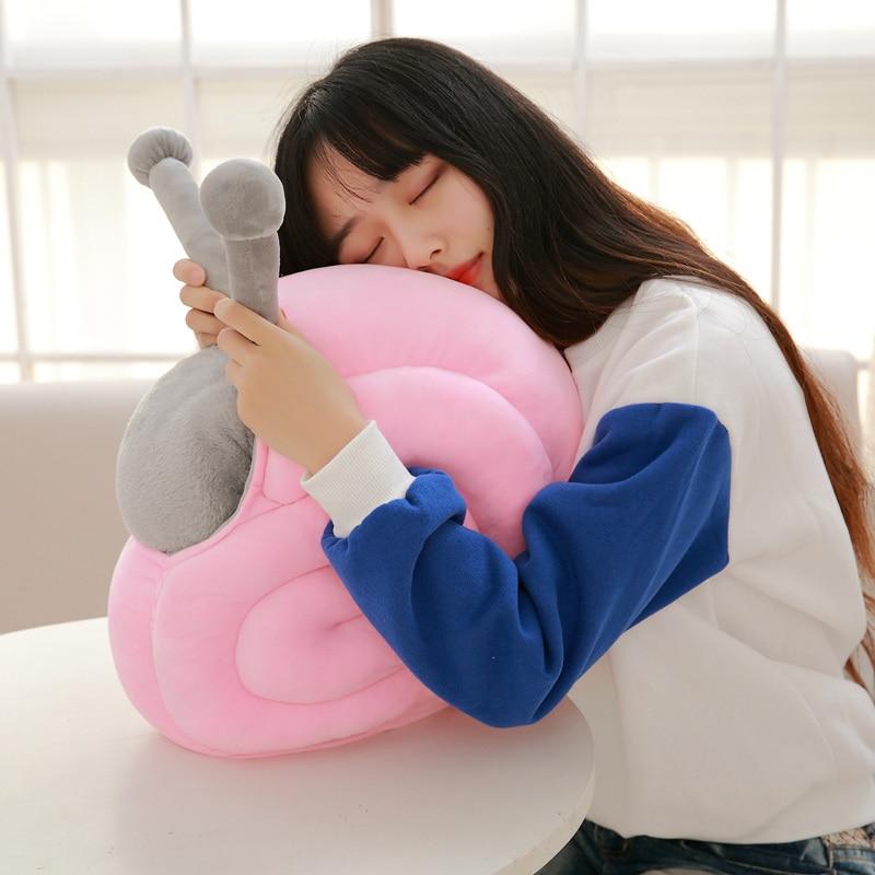 40*30cm 2017 New Style Snail plush toys Sleeping pillow Cushion Snail cloth doll stuffed plush baby toys birthday gift
