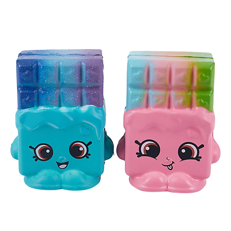 2pcs Set Kawaii Squishy Jumbo Cake Squeeze Toys Slow Rising Galaxy Chocolate Rainbow Scented Super Soft Stress Release in Squeeze Toys from Toys Hobbies