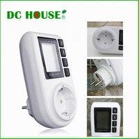 DC HUIS Hoge Kwaliteit LCD EU Plug Power Energy Meter Watt Volt Amp Meter Analyzerwith Power Factor