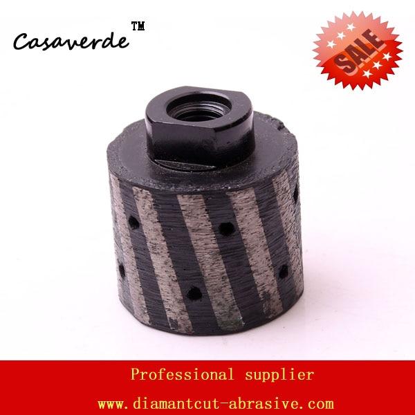 Arbor M14 DC-MDWPP02 2 inch (50mm) zero tolerance drum wheels for grinding stone zero tolerance 0630
