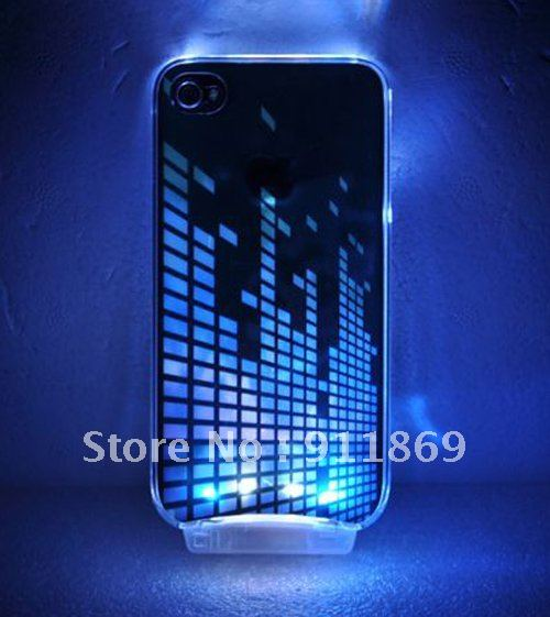 new product 2e534 1b024 US $68.99 |NEW Cool Sense Fashion Flash Light LED Case Cover for iPhone 4  4S Color Change Luminous shell on Aliexpress.com | Alibaba Group