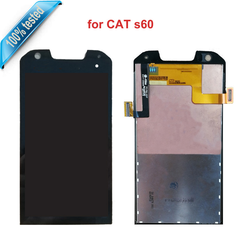 For Caterpillar Cat S60 LCD Display Touch Screen Replacement Digitizer Assembly For Cat S60 S 60 Mobile Phone replace lcds