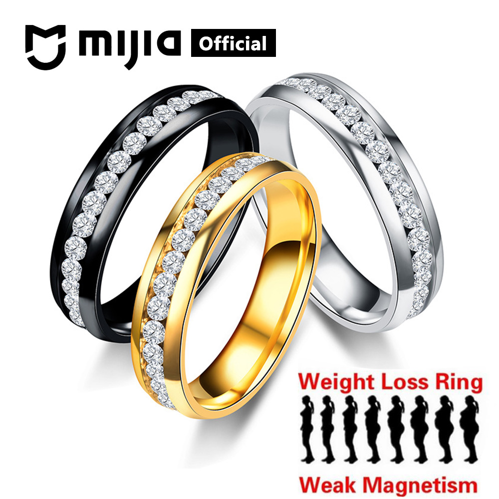 Xiaomi Mijia Magnetic Therapy Weight Loss Ring Stainless Steel String Healthcare Slimming Jewelry Magnetic Ring Women Men Gift