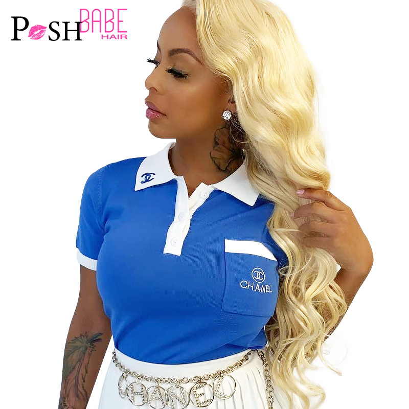 613 Honey Blonde Lace Front Wigs Virgin Malaysian Body Wave Pre Plucked 1B 613 Blonde Ombre