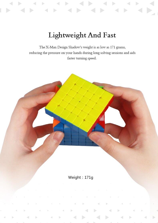 Qiyi X-MAN ombre M 6x6x6Layer magnétique SpeedCube Cube magique XMD ombre Mofangge Cube magique Puzzle jouets pour enfants - 3