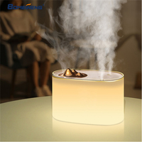 BOMEINENG 1000ML Aroma Essential Oil Diffuser USB Ultrasonic Air Humidifier with 2 Mist Outlet 7 Color LED Light for Home Office