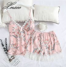 Xnxee summer sexy silk strap shorts two-piece ladies ice home service suit