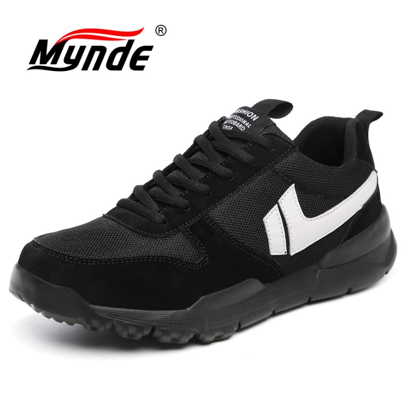 MYNDE Spring Men Running Sneakers 2018 Sport Shoes Comfortable Walking Shoes Black Jogging Shoes High Top Outdoor Shoes Athletic