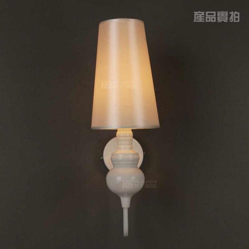 Işıklar ve Aydınlatma'ten LED İç Mekan Duvar Lambaları'de Modern Loft Bez Sanat Duvar Lambası Cafe Bar Yemek Odası Koridor Yatak Odası Salonu Lambası title=