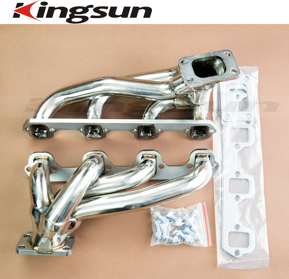 hight resolution of kingsun stainless steel t3 twin turbo racing exhaust header manifold for 87 93 ford mustang gt svt 5 0l 302 v8 in exhaust exhaust systems from automobiles