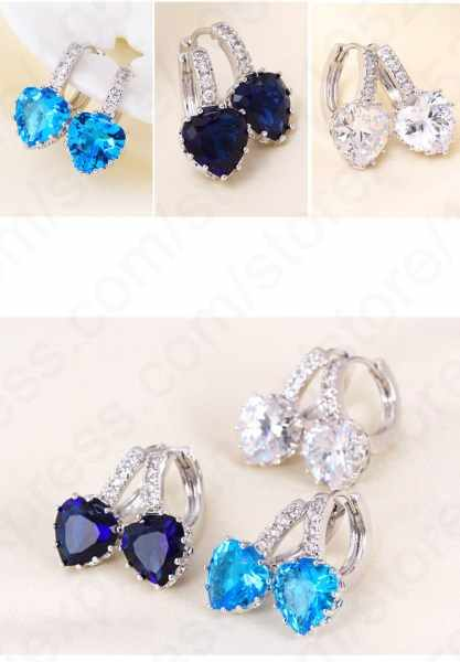 Boutique Lady 925 Sterling Silver Cubic Zirconia Stud Earrings Fashion Cartilage Piercing Earing For Women Jewelry Brincos