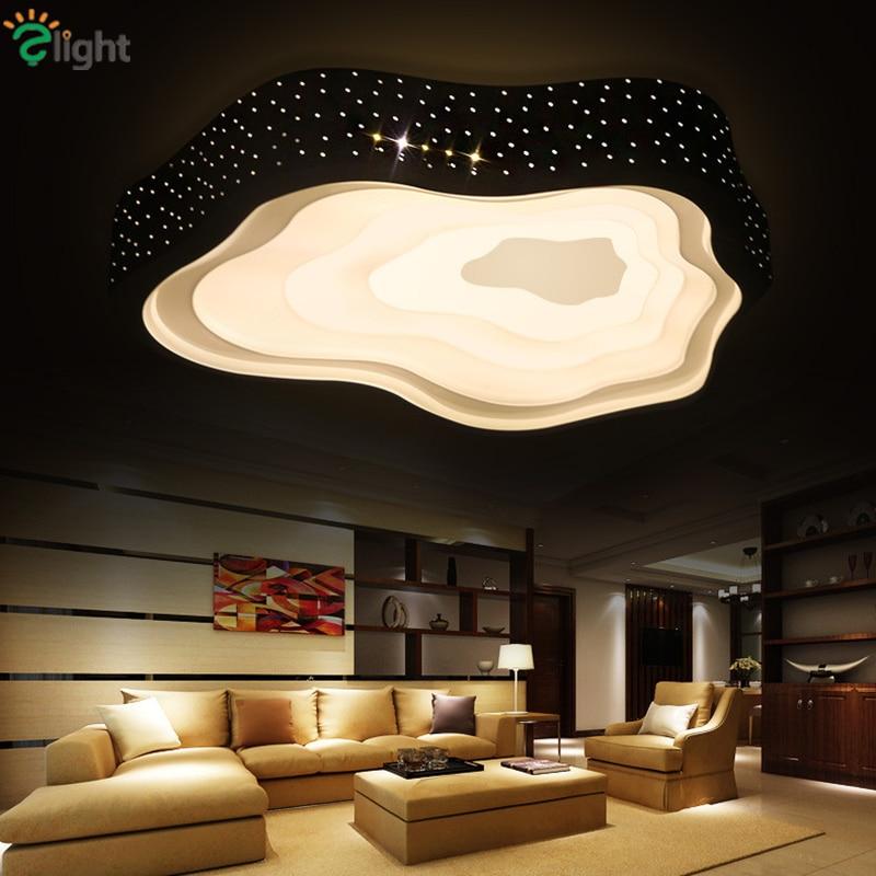 Moderní jednoduchý kovový LED led stropní lustr světla Obývací - Vnitřní osvětlení