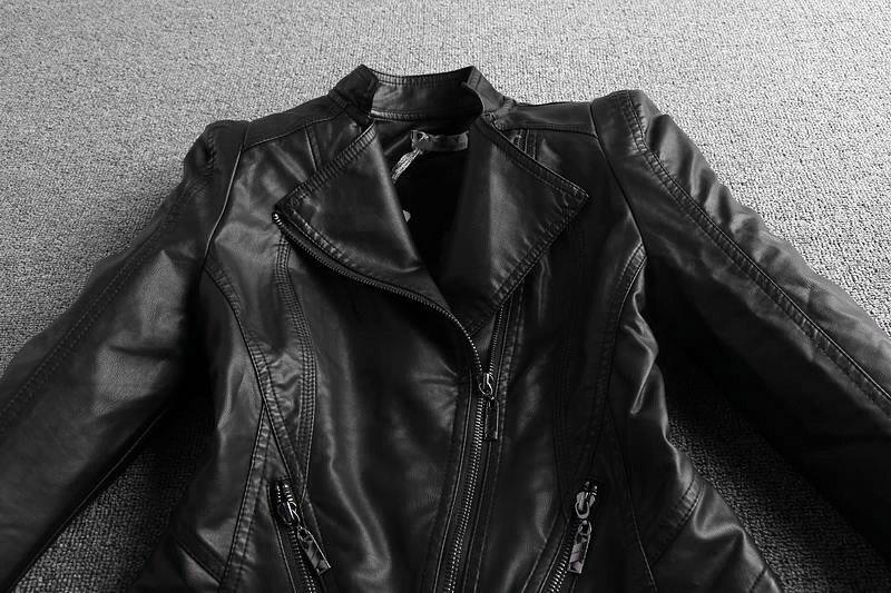 cortos de cuero chaqueta 5