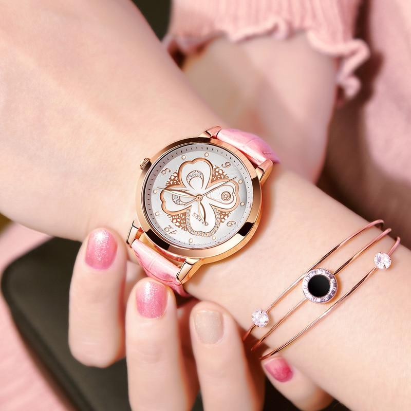OLEVS Top brand luxury lady watches women wristwatches girl Waterproof Quartz watch relogio feminino Leather Band women watches