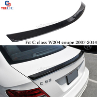 AMG Style Carbon Fiber Spoiler Wing for Mercedes W204 C Class 2 door Coupe 2007 2011 C180 C200 C250 C300 Tail Boot Lip