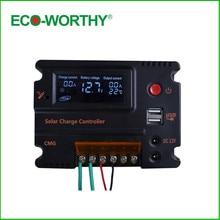 ECO-WORTHY 10A ЖК-дисплей Панели солнечные свет контроллер Батарея Регулятор зарядки 3A 5 В 12 В Солнечный Зарядное устройство контроллер для солнечных Освещение