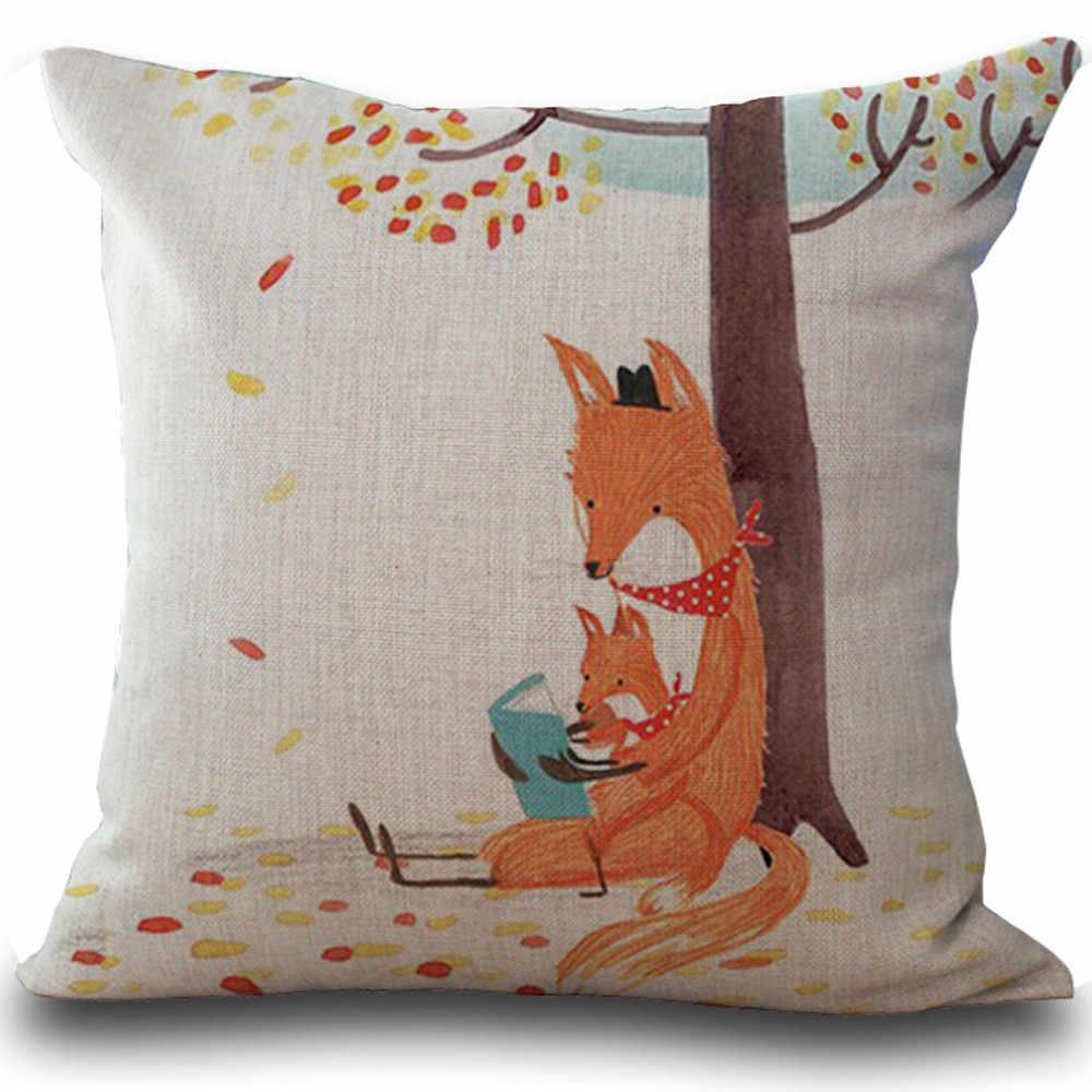 Лиса диван с принтом кровать Декоративная Подушка для дома Чехол на подушку 2017 горячие милые наволочки с животными декоративные домашние наволочки