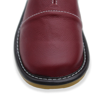 Plus Size 35-44 Genuine Leather Women Men Slippers Summer Home Slippers High Quality  Women Men Shoes Non-Slip Home Floor Shoes 4
