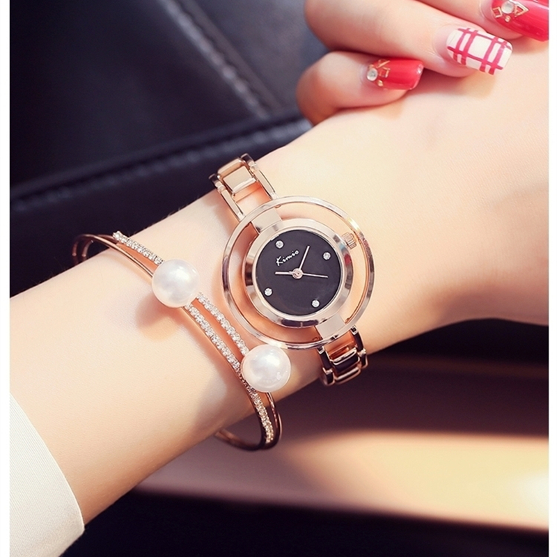 2018 Hot Sale New Luxury Brand Watch Casual Kimio Alloy Women Quartz Rose Gold Lady Dress Relojes Mujer Relogio Montre Femme