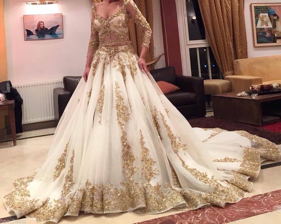 Cheap Black N White Wedding Dresses: Online Kaufen Großhandel Gold Ballkleid Aus China Gold
