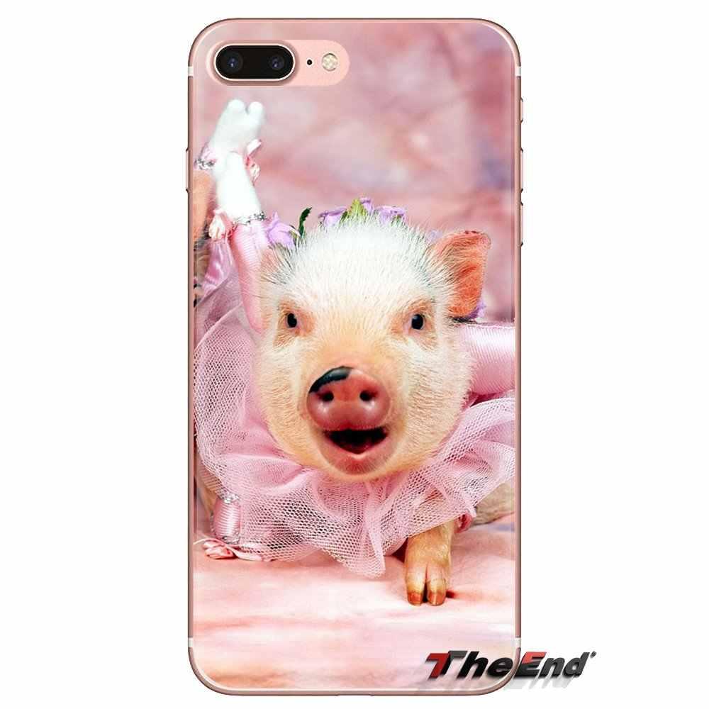 Für Huawei G7 G8 P7 P8 P9 P10 P20 P30 Lite Mini Pro P Smart Plus 2017 2018 2019 Heißer verkauf nettes schwein Transparent TPU Cases Abdeckung