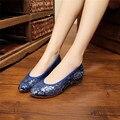 La sra. victoria Mujeres del Resorte Transpirable Slip-On de Los Holgazanes de Los Zapatos de Las Señoras Ocasional Tradicional Flor Bordada Paño zapatos de mujer