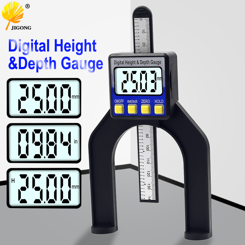 Digital Depth Caliper height gauge Digital Tread Depth Gauge LCD Magnetic Self Standing Aperture 0-80mmDigital Depth Caliper height gauge Digital Tread Depth Gauge LCD Magnetic Self Standing Aperture 0-80mm