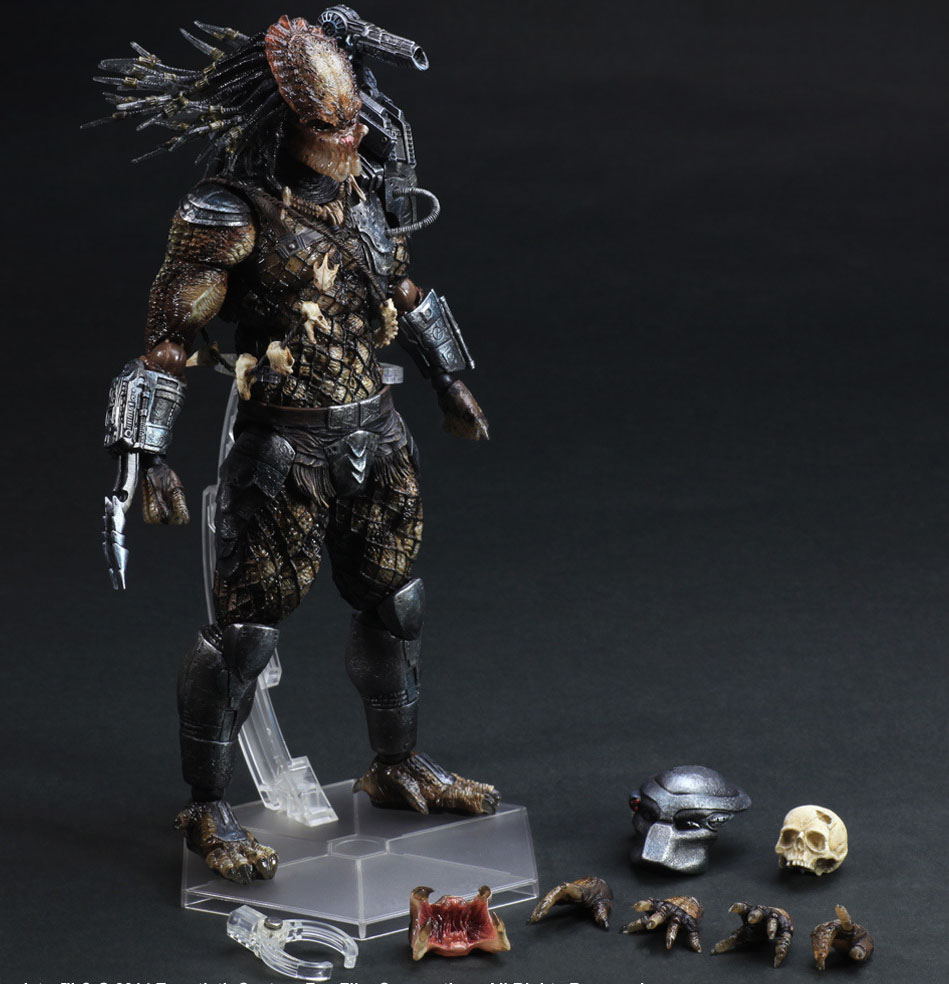 Free Shipping 11 PA KAI Predator P1 Alien Hunter Primevil Boxed 27cm PVC Action Figure Collection Model Doll Toy Gift