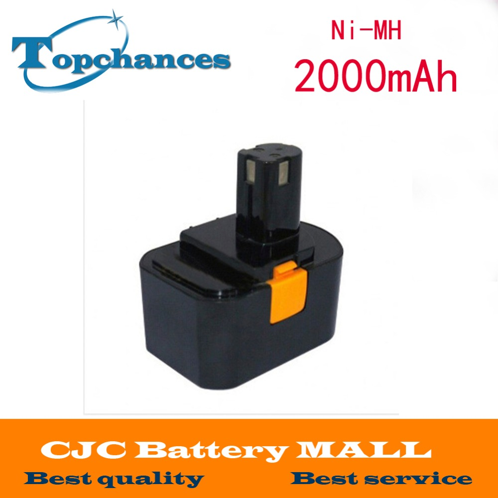<font><b>14.4V</b></font> Ni-MH 2.0Ah Replacement Power Tool Battery for Ryobi 130224010 130224011 130281002 Free Shipping image