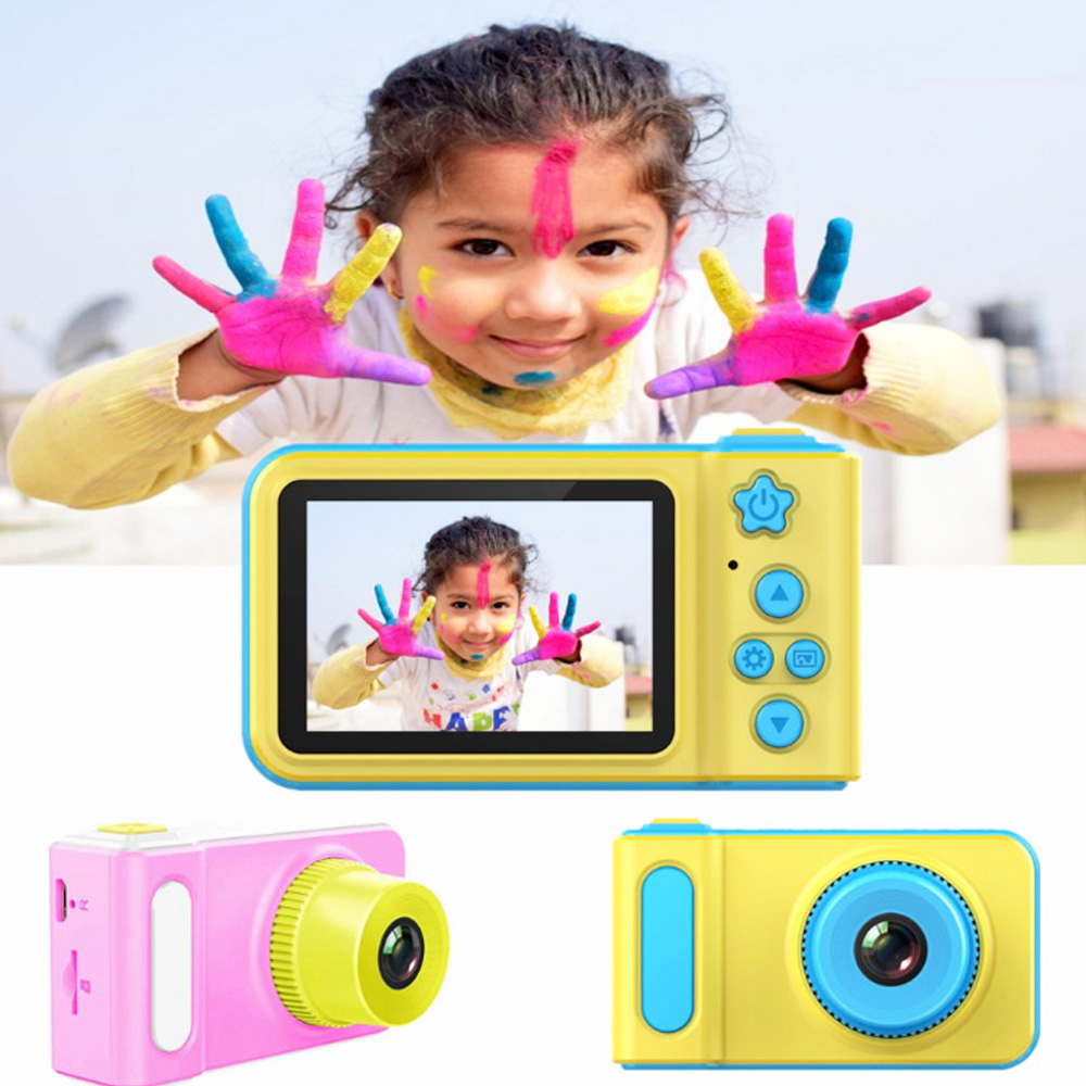 2.0 Inch IPS HD Screen Kids Digital Camera Toy High Definition Smart Shooting Video Recording Function Camera For Children Gift