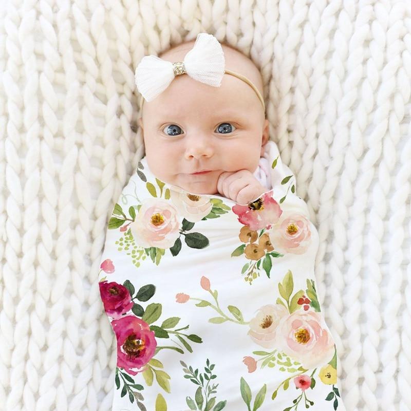 New Soft Baby Blankets Baby Swaddle Wrap Infant Sleeping Bag Warm Newborn Swaddle Muslin Wrap Baby Bedding Blanket