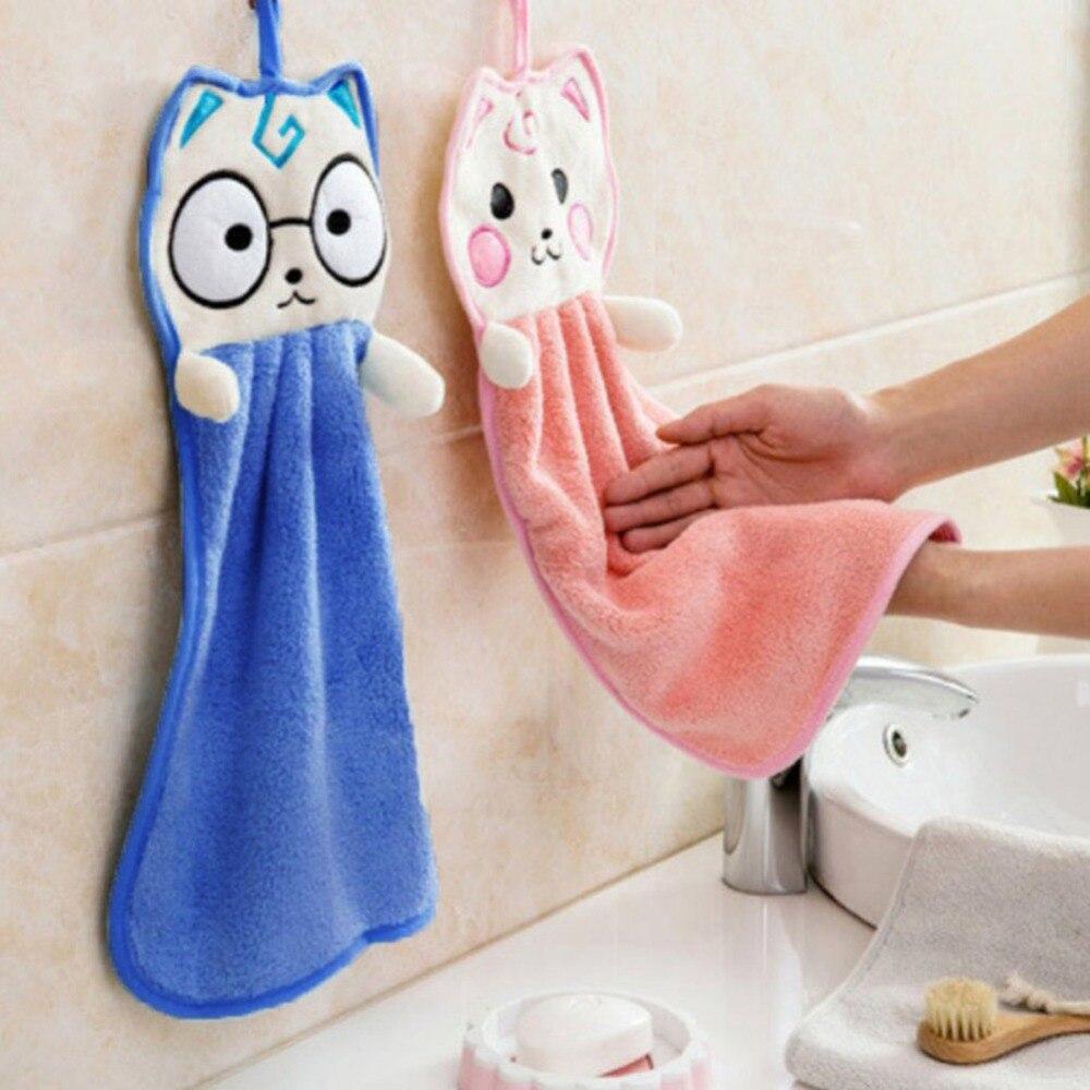 Cuisine mignon suspendus serviette forte absorbant torchon dessin animé petite serviette maison jardin ménage marchandises
