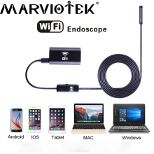 8mm dia 1/2/3.5/5 m length cable WiFi camera IOS Android PC HD720p 6 LED USB mini camera Iphone endoscope security camera