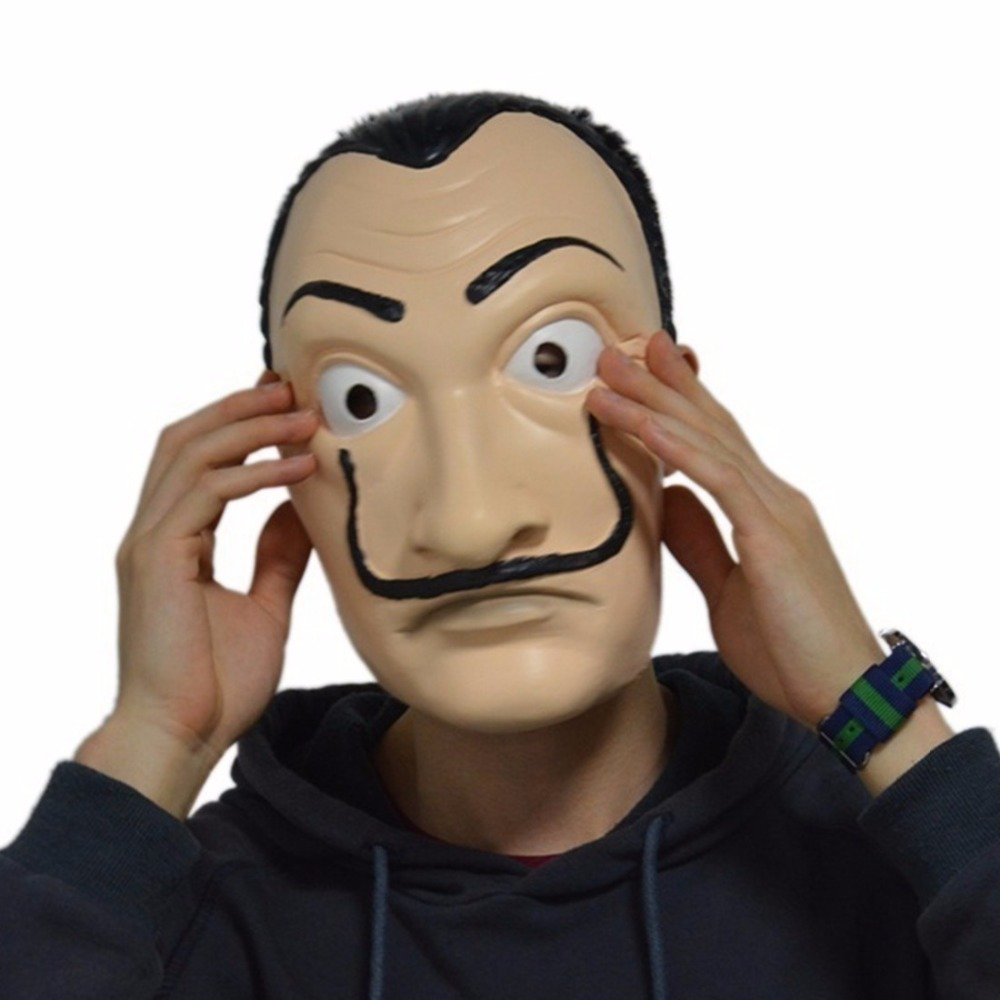 Cosplay Salvador Dali Mask Masque Paper House La Casa De Papel Latex Mask