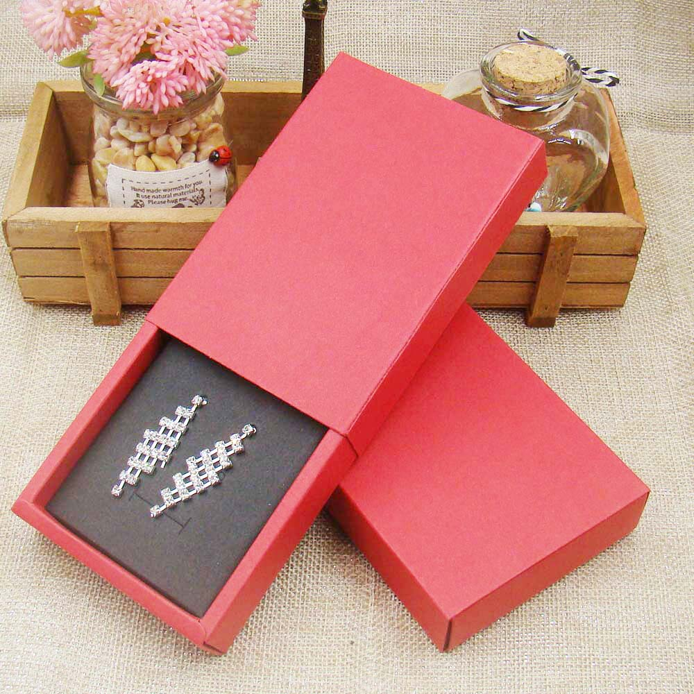 36pcs 4.5*3.15*1.0inch New Wholesale Red Paper Jewelry