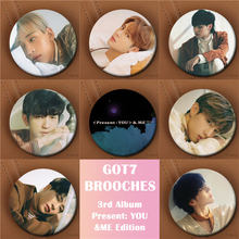 Youpop KPOP GOT7 3rd Album Present You &Me Edition YOUNGJAE JB Brooch Pin Badge Accessories For Clothes Hat Backpack Decoration(China)