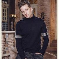 FANZHUAN Sıcak Satış 2018 Bahar Yeni Erkek 'S Kazak Moda Rahat Yüksek Boyunlu Kazak Yüksek Kaliteli Marka Giyim Pamuk Kazak