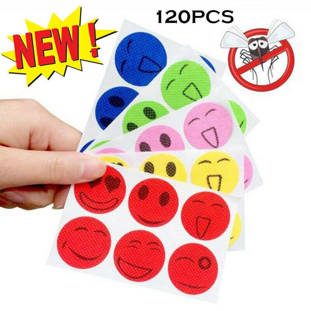 60/120Pcs Mosquito Repellent Patch SmileFace Anti Mosquito Sticker Repeller Baby Family Mosquito Killer Trap Insect Pest Control