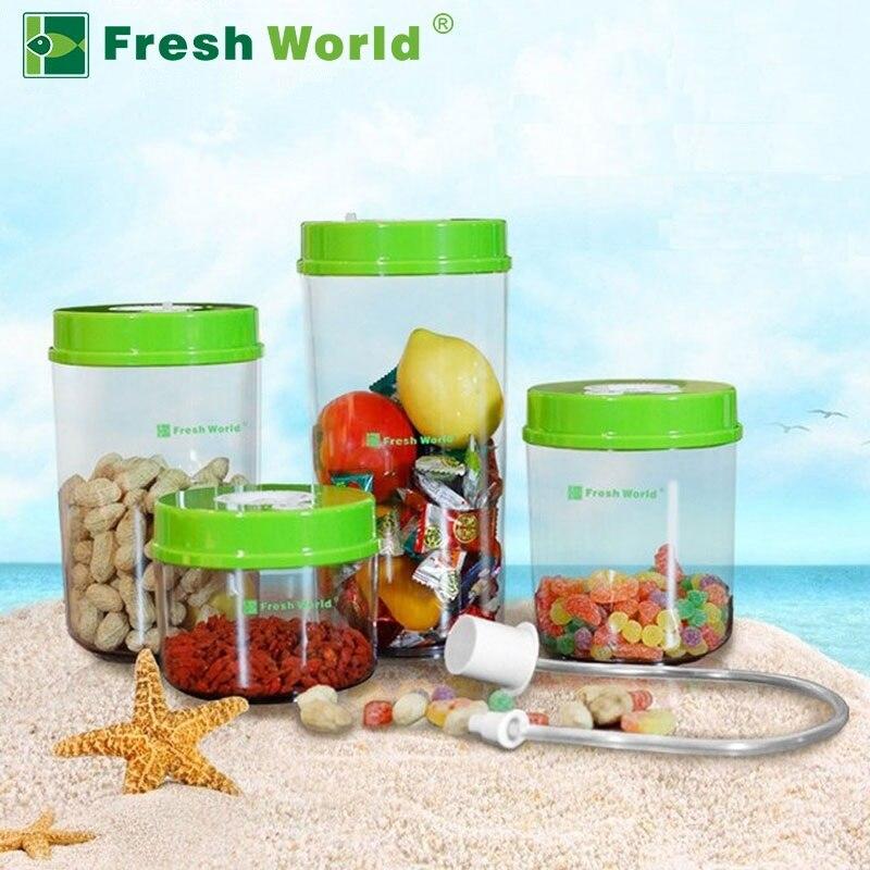 Кухонные вакуумные контейнеры для пищевых продуктов, наборы свежих канистр (2200 мл + 1600 мл + 1000 мл + 700 мл, Электрический вакуумный насос onsale)