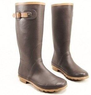 Online Shop Wormen's Brown Rubber Rain Boots Size 6#   Aliexpress ...