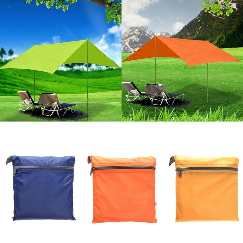 Orange Fabric Shelter : T nylon fabric ultralight sun shelter camping mat beach