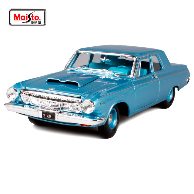Maisto 1 18 1963 Dodge 330 Retro Muscle Car Diecast Model Car Toy