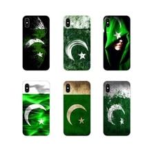 For Huawei P Smart Mate Honor 7A 7C 8C 8X 9 P10 P20 Lite Pro Plus Transparent Soft Case Cover Pakistan Flag Banner Moon Star Art