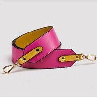 Genuine Leather Handbag Shoulder Strap Wide Bag Strap Replace Hit Color Wild Shoulder Package Accessories Part Of The Bag