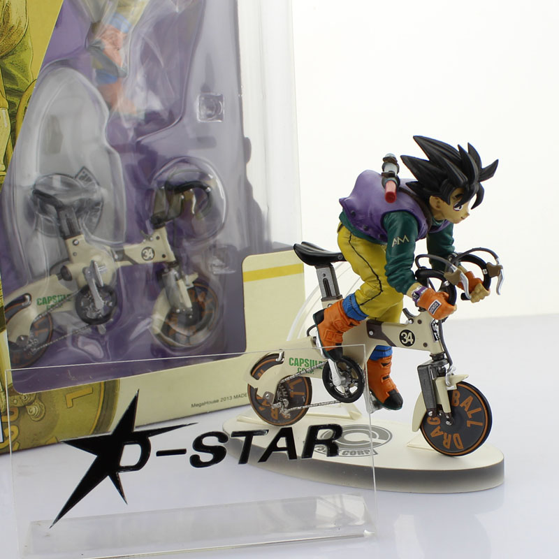 Free Shipping 9 Dragon Ball Z Anime GOKU Son Gokou Riding Bike Ver Boxed 23cm PVC Action Figure Collection Model Doll Toys Gift dragon ball figurine son goku children styling action figures doll pvc model toys free shipping
